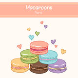 Color macaroons Royalty Free Stock Photos