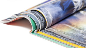Color magazines on white Stock Photography