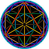 Color magic hexagram Stock Photography