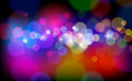 Color Magical Lights Stock Photo