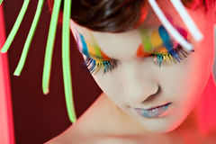 Color makeup. Like rainbow colors Stock Images
