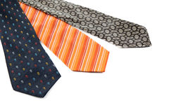 Color male ties Royalty Free Stock Images
