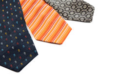 Color male ties Royalty Free Stock Photos