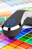 Color management. Press color management, chart, densitometer Royalty Free Stock Photography