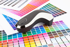 Color management. Press color management, chart, densitometer Stock Photos