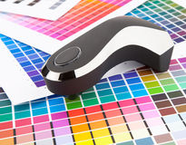 Color management. Press color management, chart, densitometer Royalty Free Stock Photos