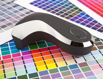 Color management. Press color management, chart, densitometer Stock Photography