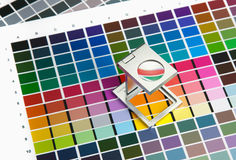Color management. Press color management, chart, densitometer, thread counter Royalty Free Stock Photography