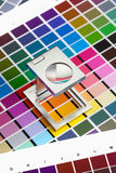 Color management. Press color management, chart, densitometer, thread counter Stock Images