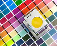 Color management. Press color management, chart, densitometer, thread counter Royalty Free Stock Images