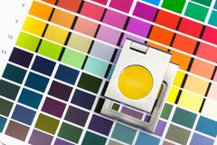 Color management. Press color management, chart, densitometer, thread counter Stock Photos