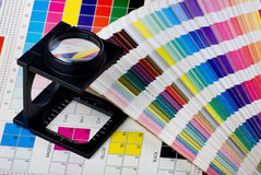 Color management set. Press color management - print production Royalty Free Stock Images