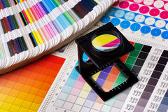 Color management set. Press color management - print production Stock Photos