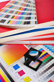 Color management set. Press color management - print production Royalty Free Stock Photography