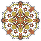 Color mandala. Eastern symmetrical circular pattern. On a white background vector illustration
