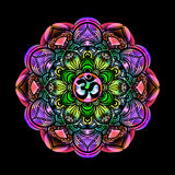 Color mandala om Royalty Free Stock Image