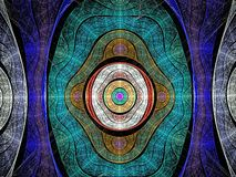 Color mandala. Romantic religious color mandala and background Stock Images