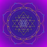 Color mandala sacred geometry illustration Stock Photos