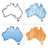 Color  map of australia Stock Photos