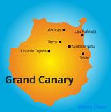 Color map of Grand Canary Royalty Free Stock Image