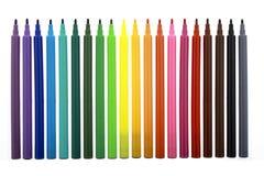 color markörer mång- Arkivbild