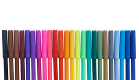 Color marker pens isolated on white background Royalty Free Stock Image