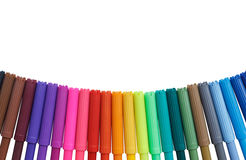 Color marker pens isolated on white background Royalty Free Stock Photography