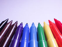 Color Marker pens Stock Images