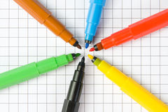 Color markers Stock Images