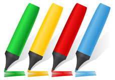 Color Markers Stock Photo