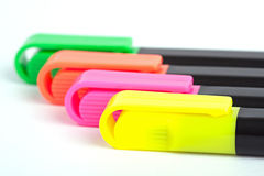 Color markers. On white background Stock Images