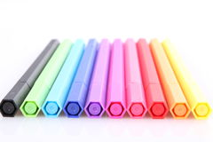 Color markers. On white background Royalty Free Stock Images