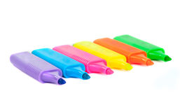 Color markers isolated Stock Photography