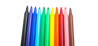 Color markers tips Royalty Free Stock Image