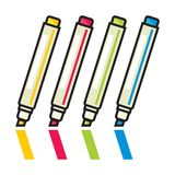 Color Markers Stock Image