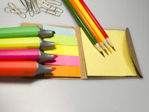 Color marking papers Stock Photo