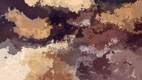 Color marrón y beige del efecto de la mancha de la acuarela - stock de ilustración