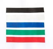 Color masking tape set on isolated. White background Stock Photo