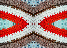 Color Mat, knitted crochet, handmade Royalty Free Stock Image