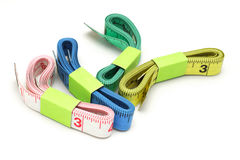 Color measuring tapes Royalty Free Stock Photo