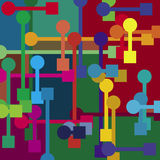 Color mechanical background. (This background is not seamless royalty free illustration