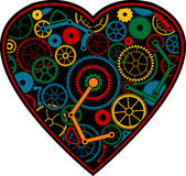 Color mechanical heart Royalty Free Stock Photography