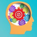 Color mechanism in head vector Stock Photo