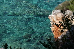 Color of mediteranean sea Royalty Free Stock Photography