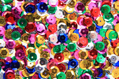 Color metal confetti texture. As very nice background Stock Image