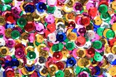 Color metal confetti texture Stock Image