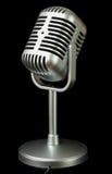 Color metálico del micrófono plástico del estudio Imagenes de archivo