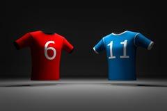 2-color mette in mostra la maglietta Immagine Stock