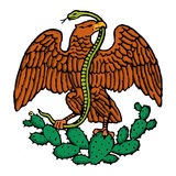Color mexican eagle Royalty Free Stock Photos