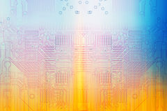 Color microelectronics background chips Stock Photos